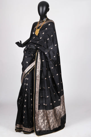Black Silk Benarasi Saree