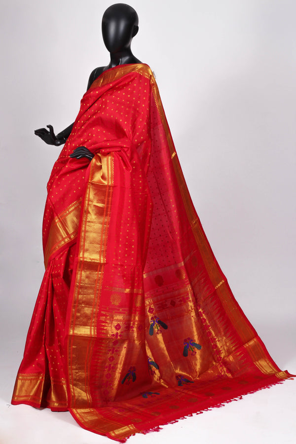 Red Paithani Saree