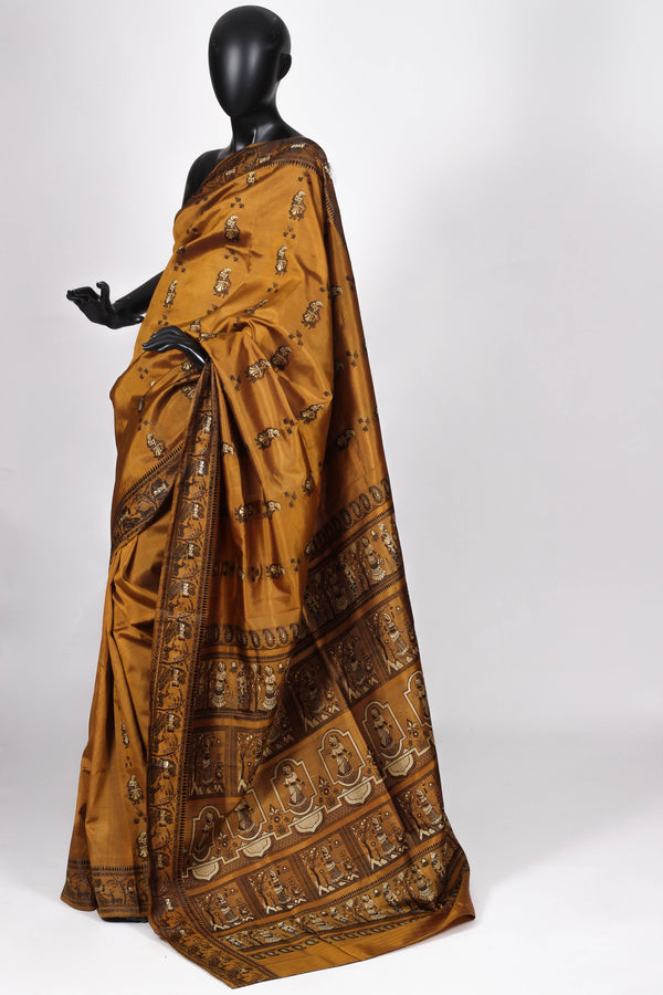 Gold Baluchari silk
