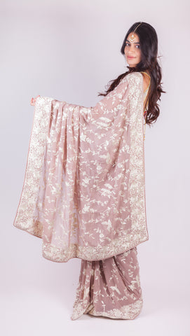 Swan Princess Parsi Gara Saree