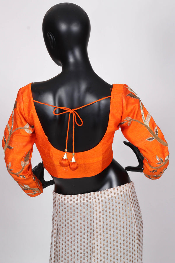 Orange Couture Blouse