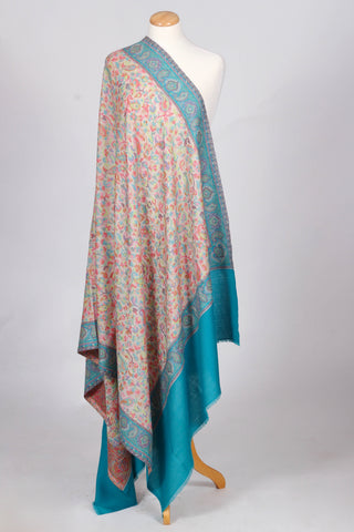 Mission Kashmir Kani wool shawl