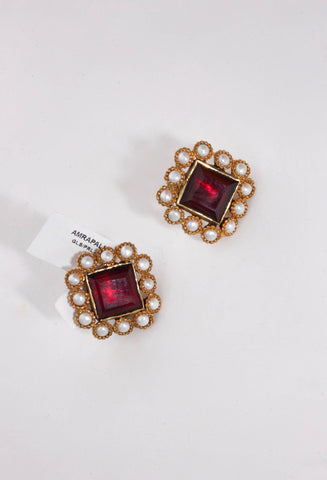 Amrapali ruby earrings