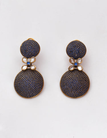 Amrapali blue sapphire earrings