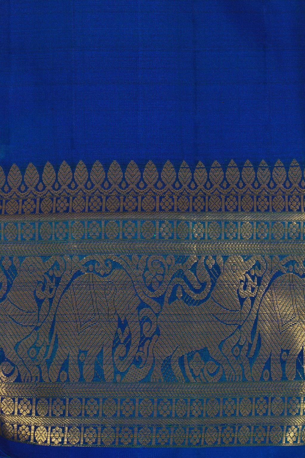 Royal blue kanjiveram silk saree