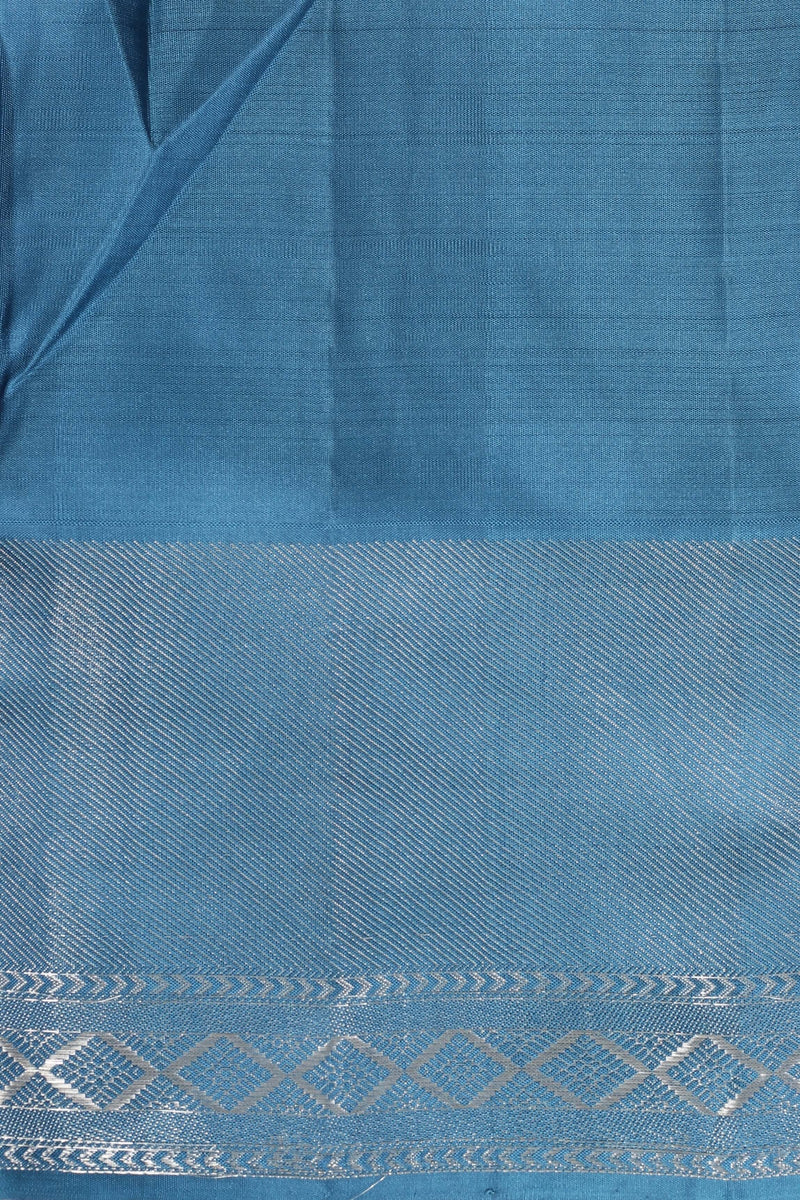 Blue Kanjiveram Silk Saree