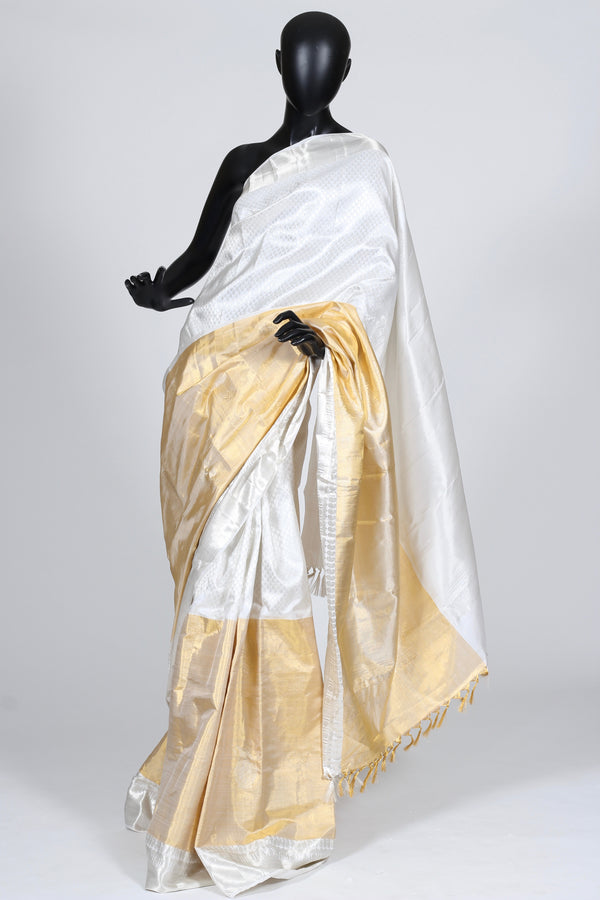 Silver and Gold Kanjiveram Saree