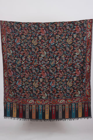 Black Valley of Kashmir Shawl