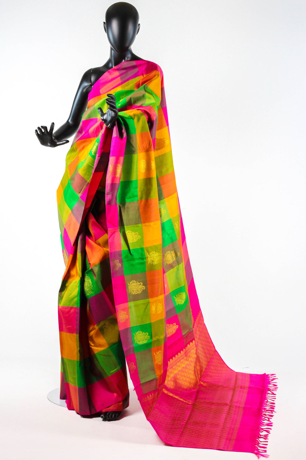 Rainbow Kanchipuram Saree