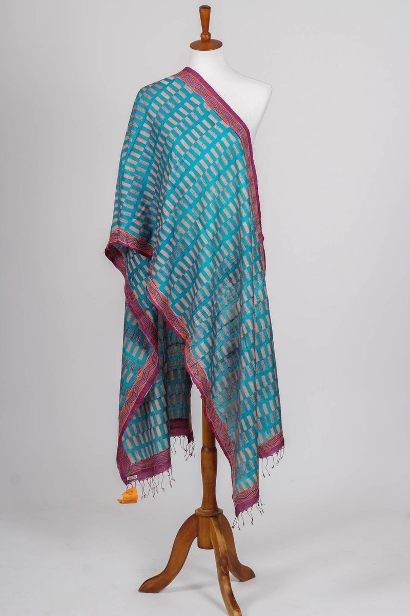 Hand Embroidered Kantha Dupatta