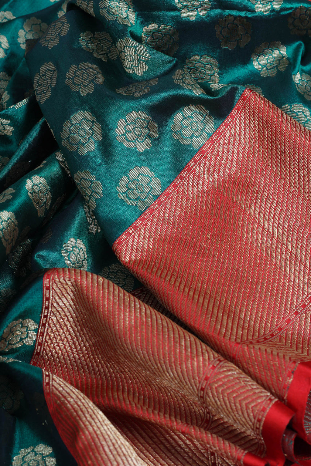 Charcoal Tussar silk kantha saree