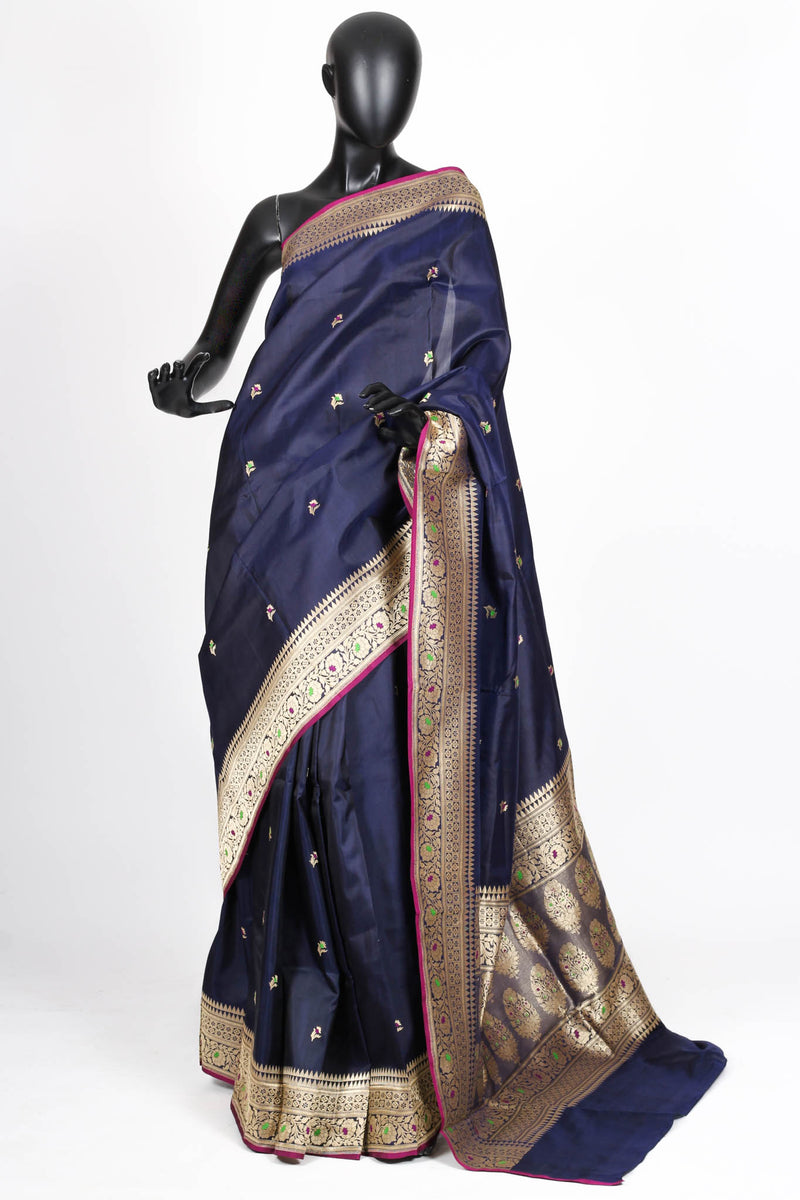 Blue Benarasi Silk Saree