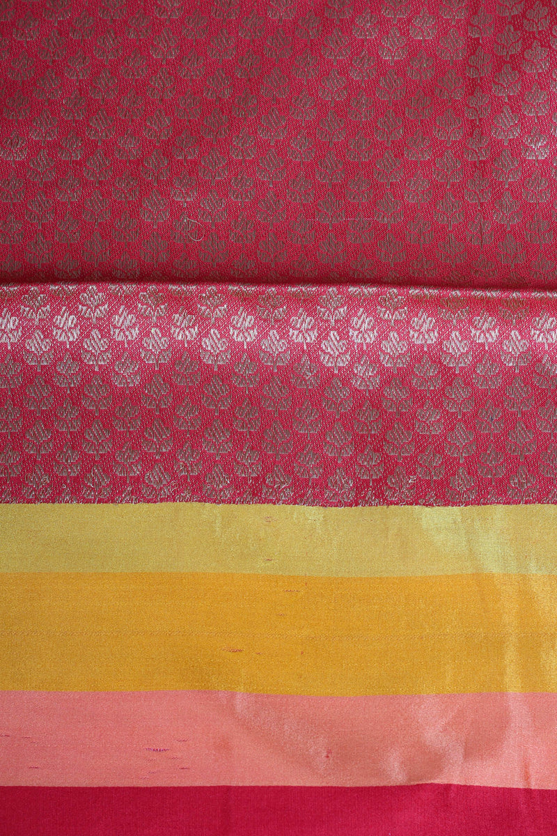Check benarasi cotton silk saree