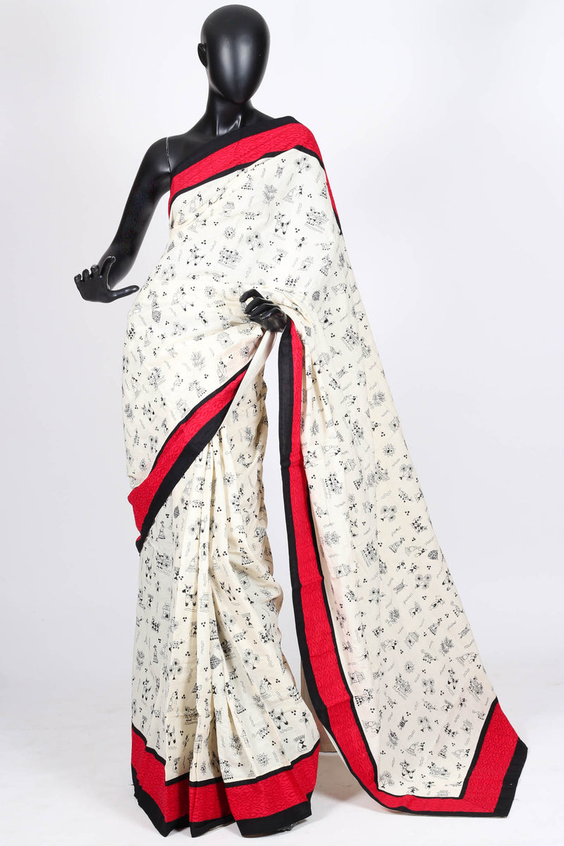 Cotton Kantha Saree