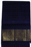 Rust and Blue Kanjiveram Saree