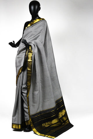 Checkered Kanchi Saree