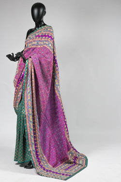 Half and Half Kantha Saree