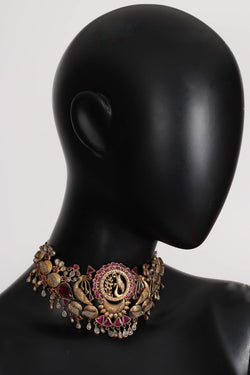 Silver Gold Plated Amrapali Necklace