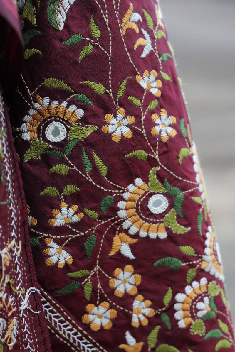 Hand embroidered Kantha stole