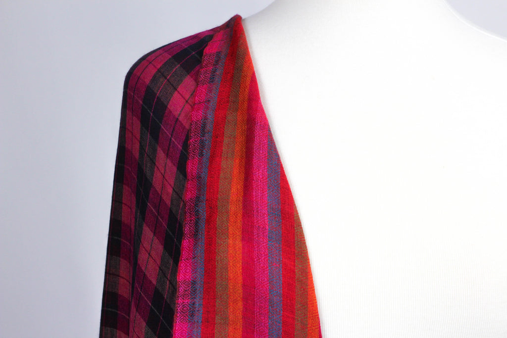 Reversible Check Soft Woolen Shawl