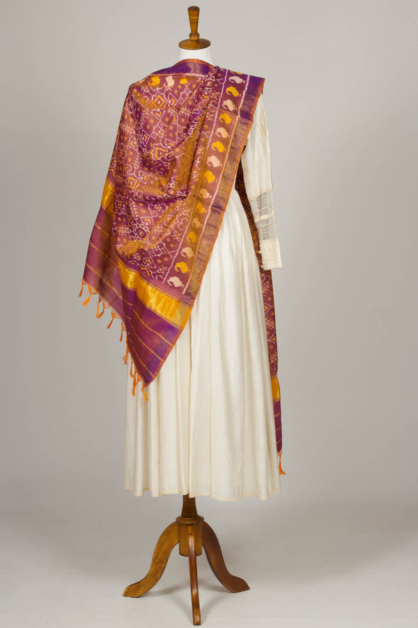 Purple Ikat Shawl