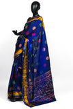 Blue Patola Saree