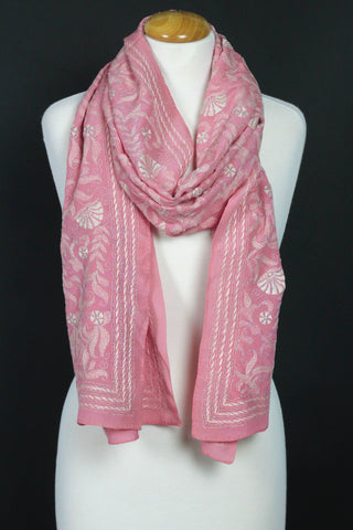 The 'Blue Mosque' Pink Katha Scarf