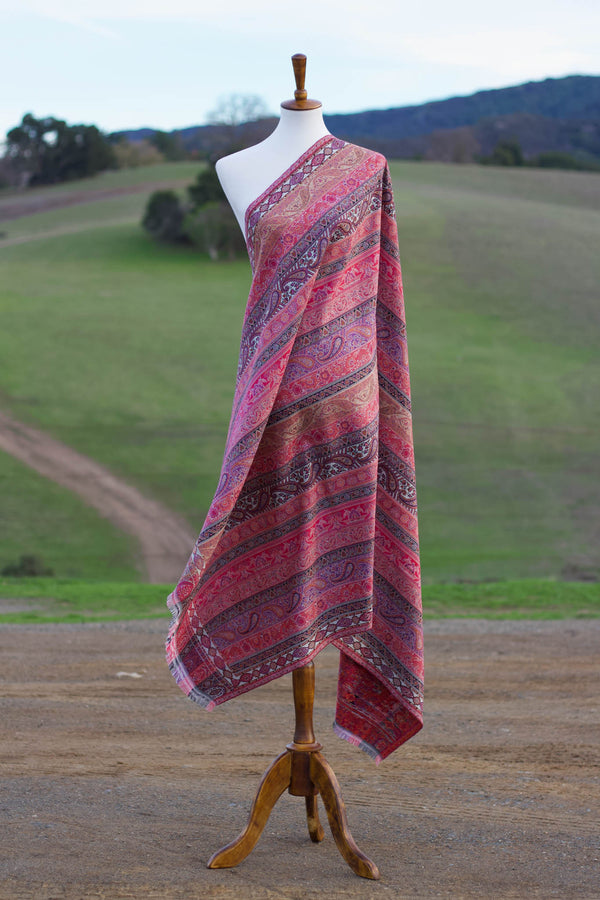 Rainbow Kani Wool Shawl