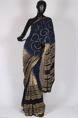Blue Starry Nights Saree