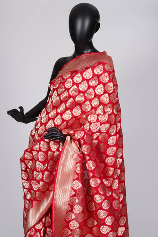 Red Wedding Benarasi Saree