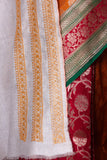 Half and half benarasi saree