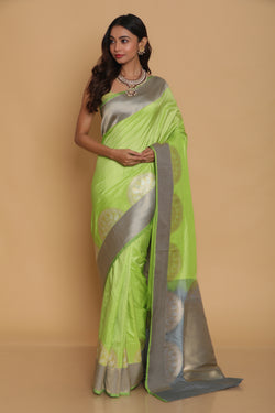 Green Kanjijiveram Silk Saree