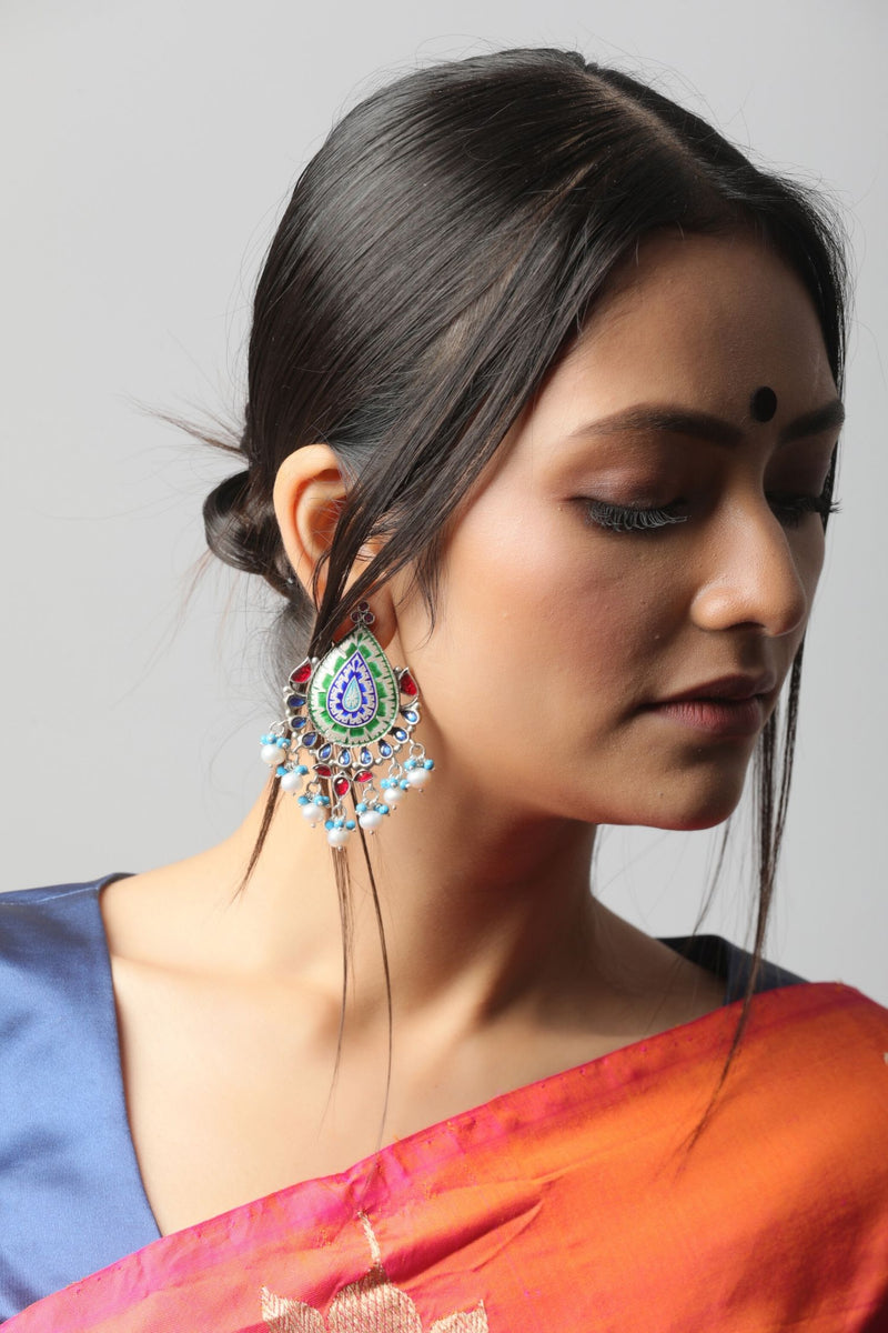 Silver Amrapali Earrings