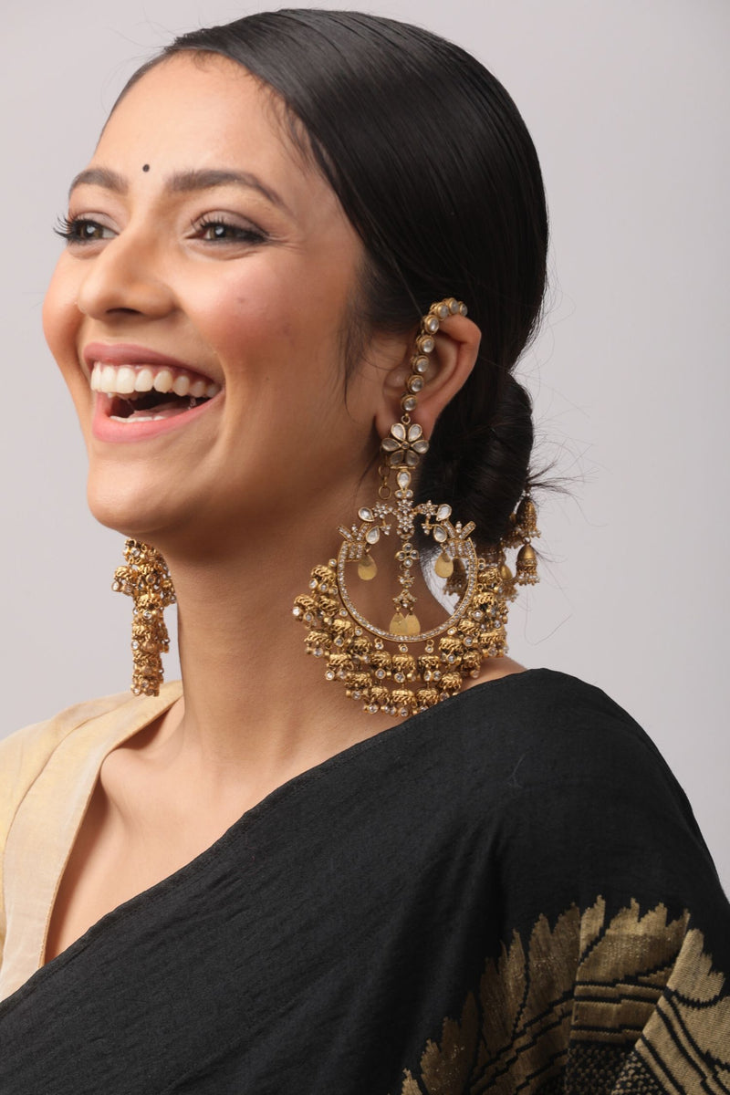 SIlver Gold Plated Amrapali Earrings