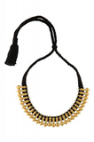 Silver Gold Plated Black Thread Kerala Necklace
