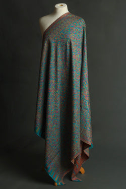 Blue Kani Wool Shawl