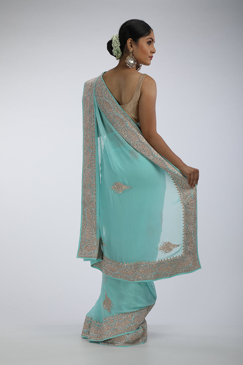 Feroza georgette saree