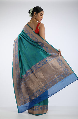 Green Benarasi Saree