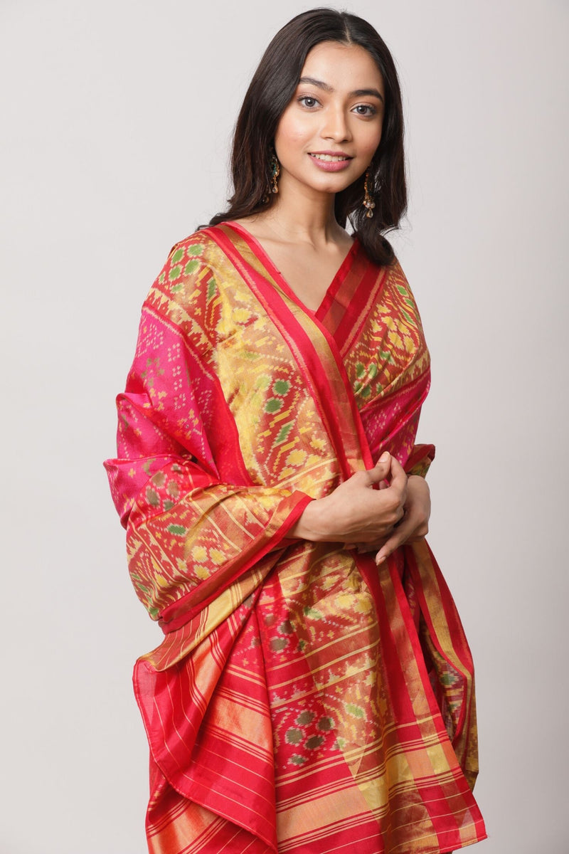 Red Pochampalli Saree