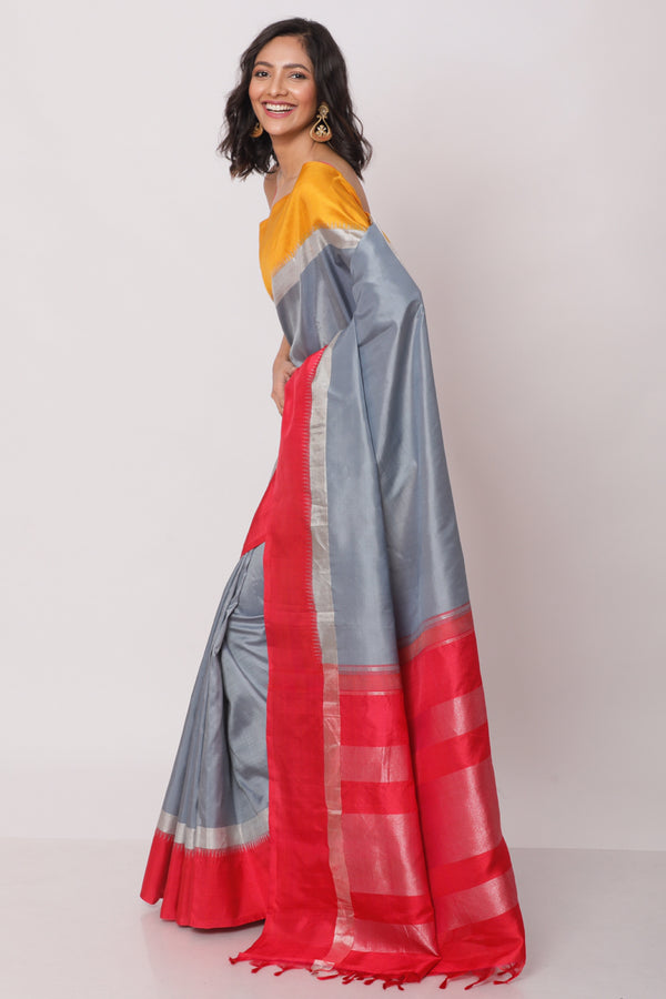 Multicolor Kanjiveram Silk Saree