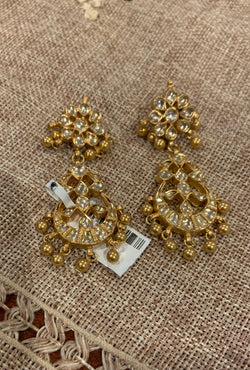 Silver Gold Plated Earrings