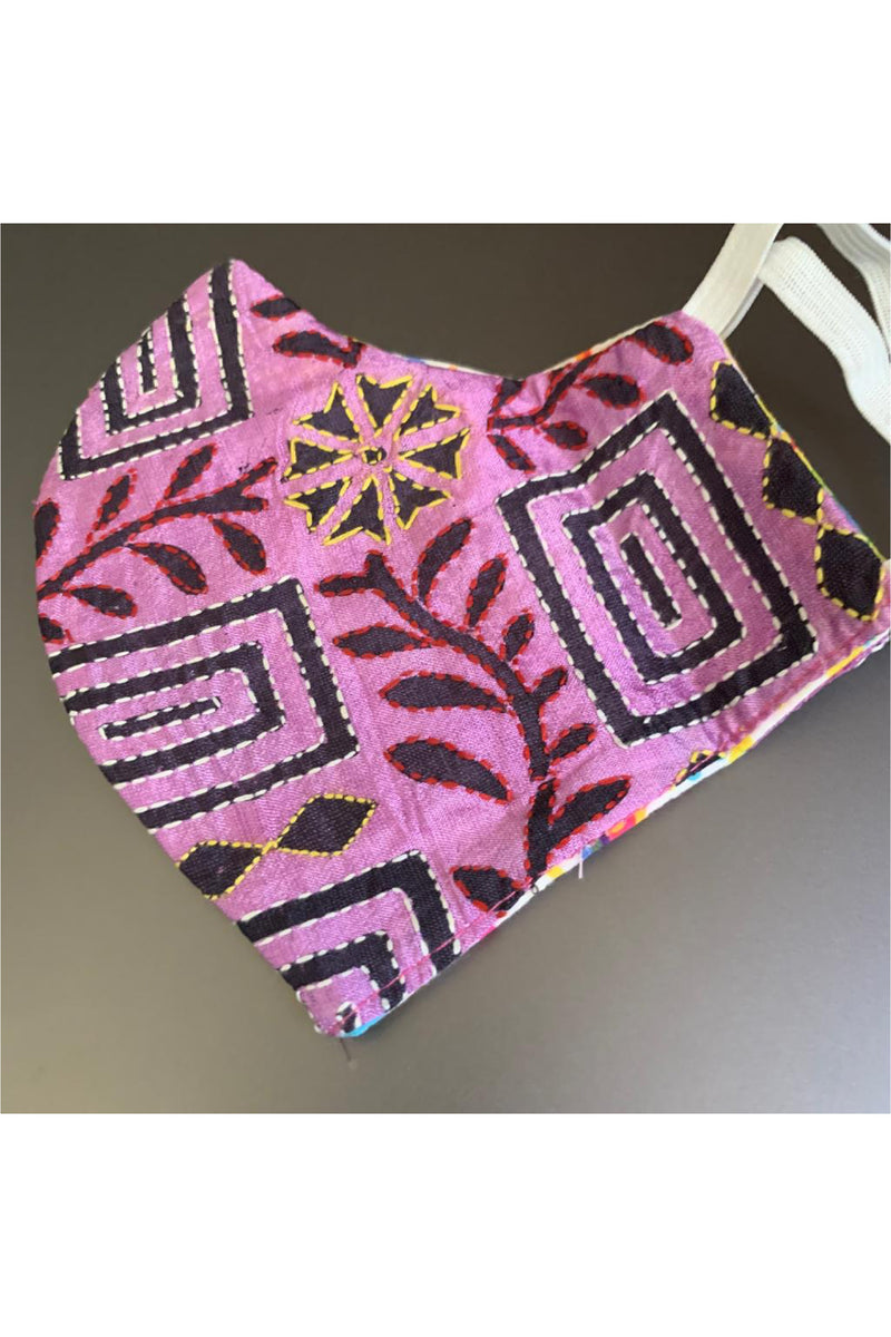 Reversible Kantha mask