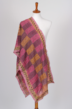 Multicolor Hand Embroidered Kantha Scarf