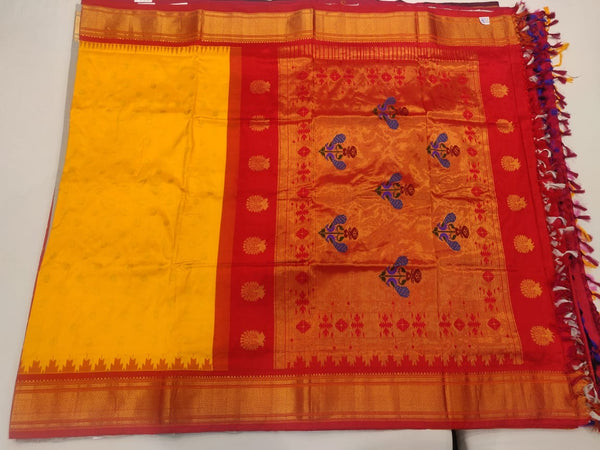 Yellow Paithani Saree