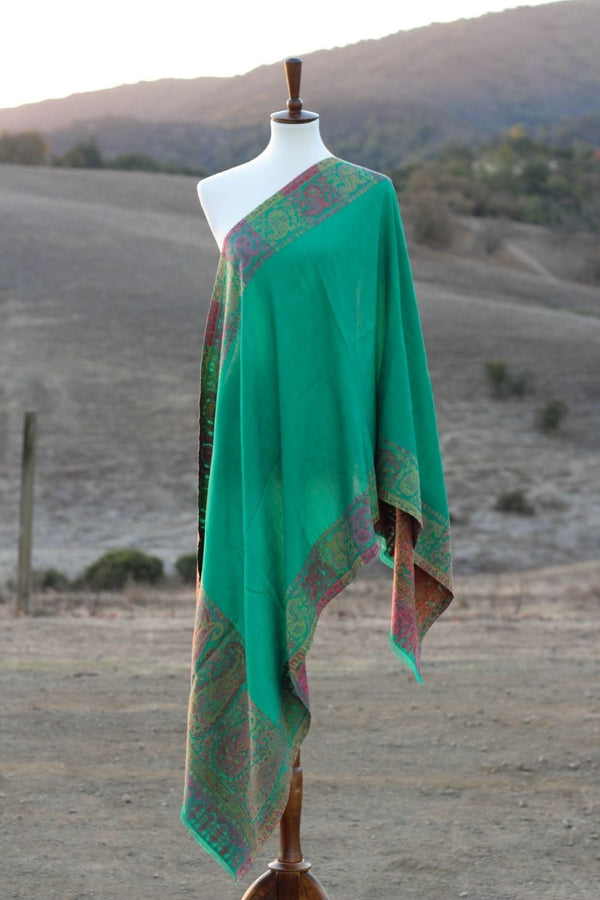 Green Kani Wool Stole