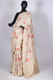 Off White muga silk saree