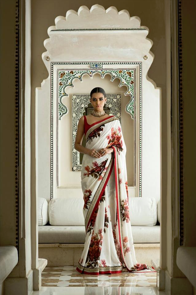 Pansy Printed Georgette Saree