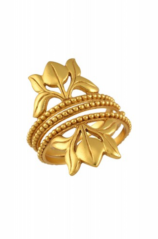 Silver Gold Plated Lotus Stacking Rings