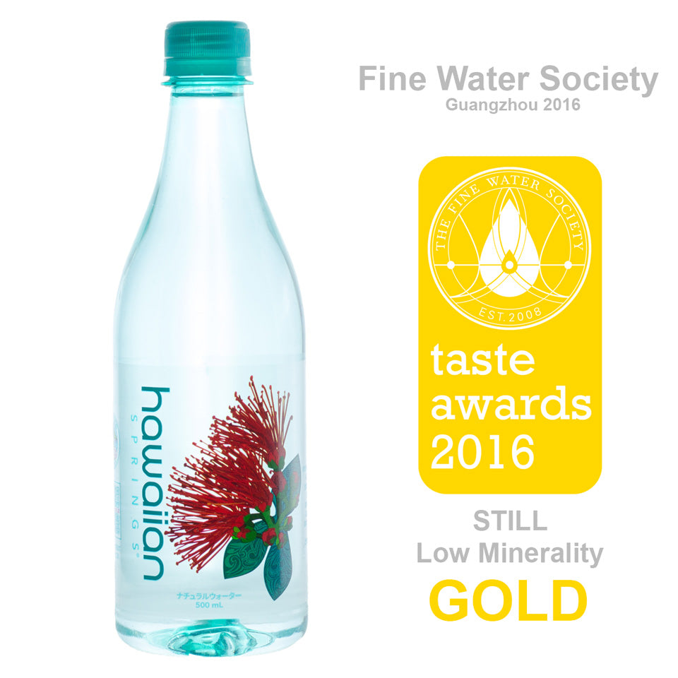 Hawaiian Springs wins Gold at Fine Waters Taste Test