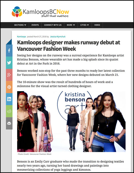 Kamloops designer makes runway debut at Vancouver Fashion Week